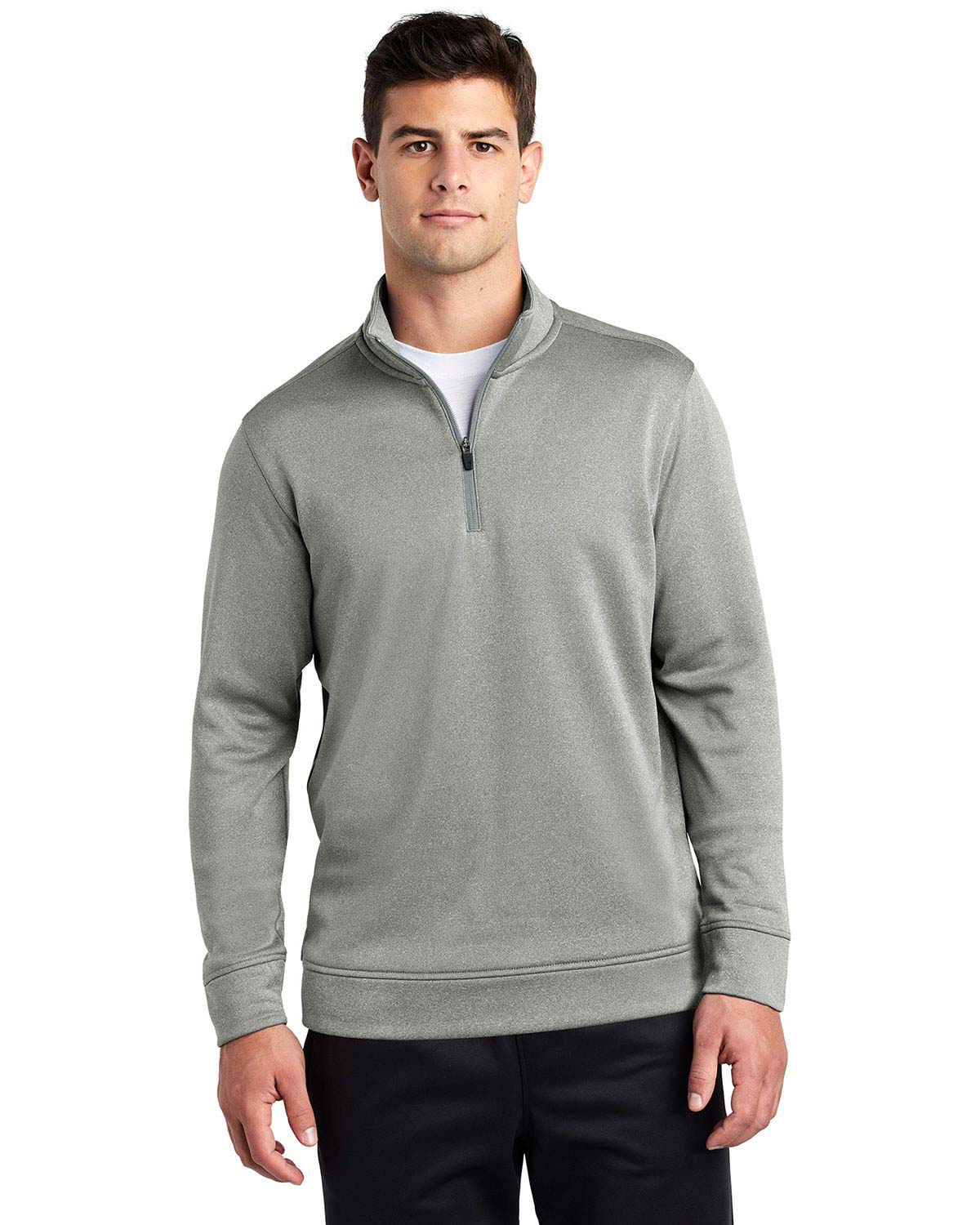 Sport-Tek ST263 PosiCharge Sport-Wick Heather Fleece 1/4-Zip Pullover
