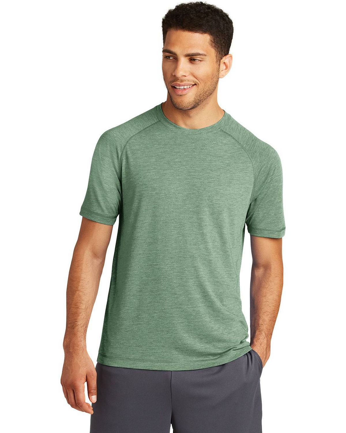 Sport-Tek ST400 Mens Posi Charge Tri-Blend Wicking Raglan T-shirt