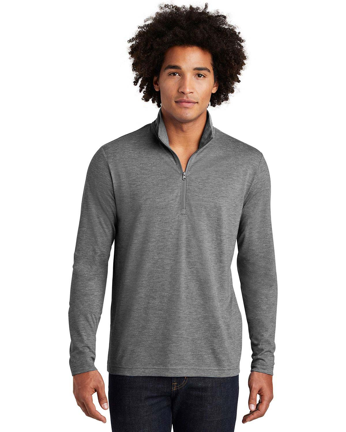 Sport-Tek ST407 PosiCharge Tri-Blend Wicking 1/4-Zip Pullover