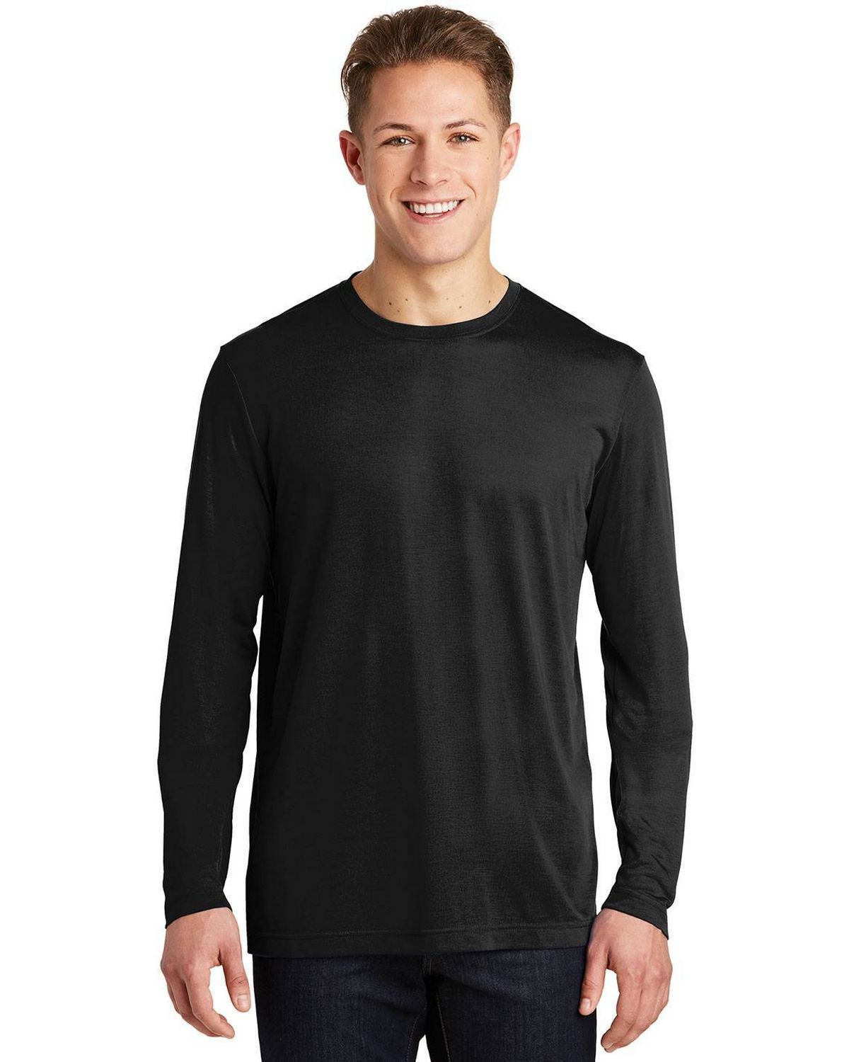 Sport-Tek ST450LS Mens Long Sleeve Posi Charge Competitor Cotton Touch T-Shirt