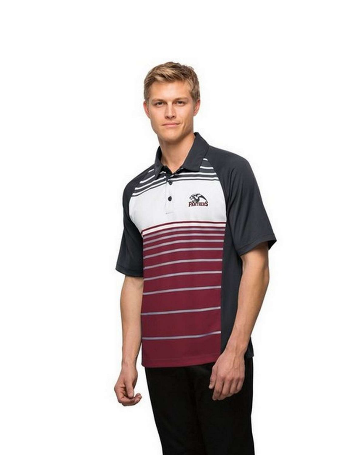 Sport-Tek ST600 Dry Zone Sublimated Stripe Polo