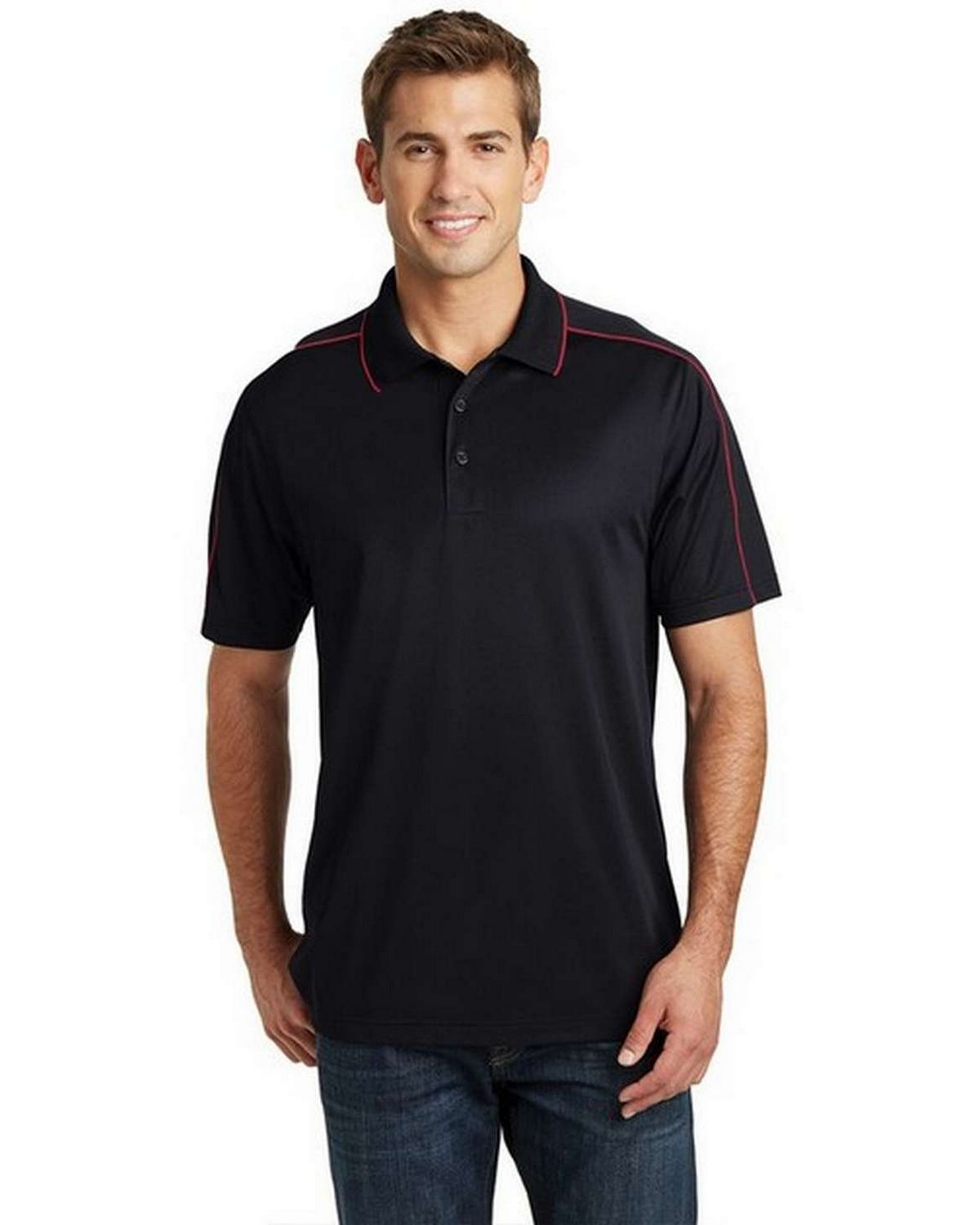 Sport-Tek ST653 Micropique Sport-Wick Piped Polo Shirt