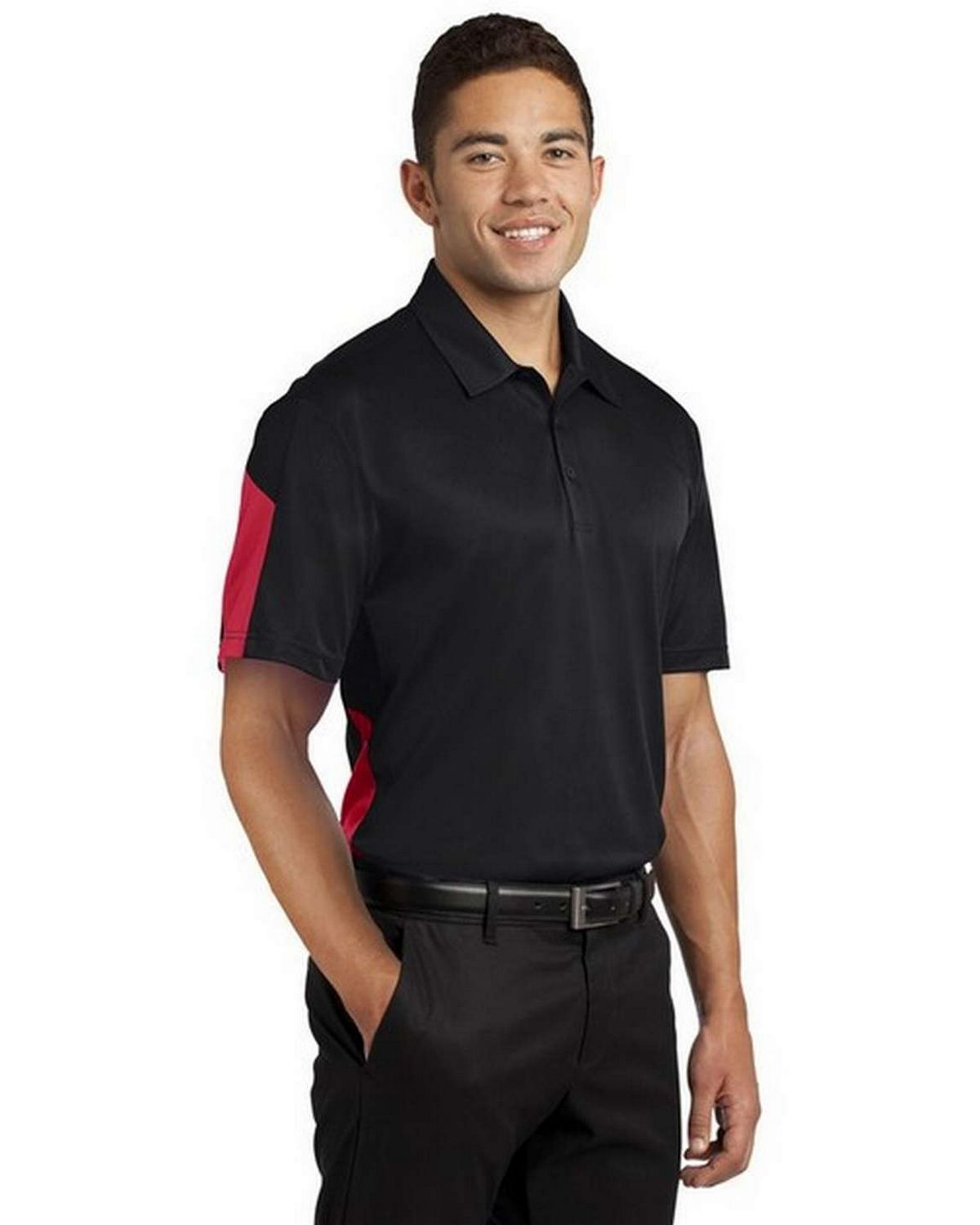 Sport-Tek ST695 Active Textured Colorblock Polo