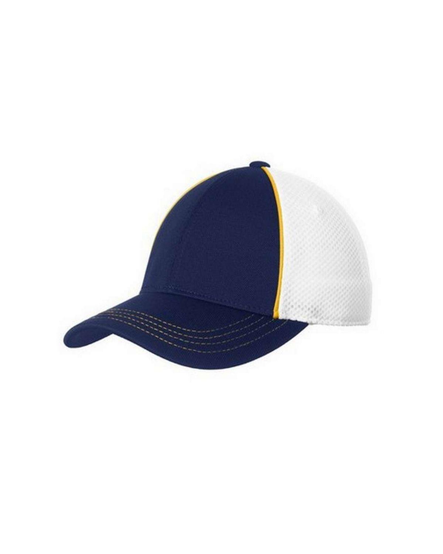 Sport-Tek STC29 Piped Mesh Back Cap