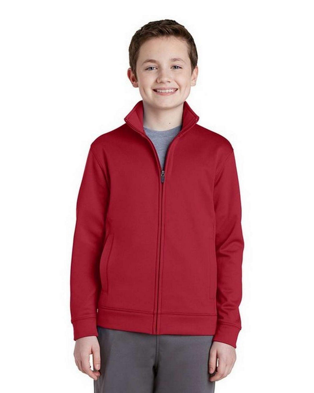 Sport-Tek YST241 Youth Sport-Wick Fleece Full-Zip Jacket