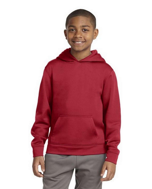 Sport-Tek YST244 Youth Sport-Wick Fleece Hooded Pullover