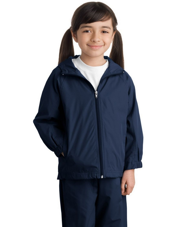 Sport-Tek YST73 Youth Hooded Raglan Jacket