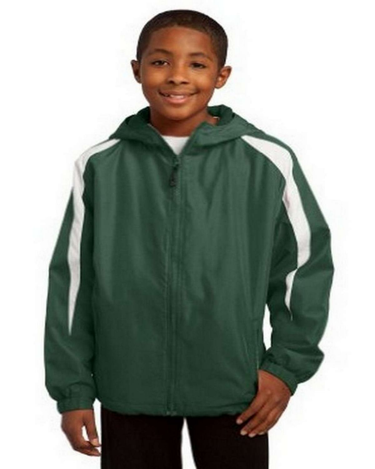 Sport-Tek YST81 Youth Fleece-Lined Colorblock Jacket