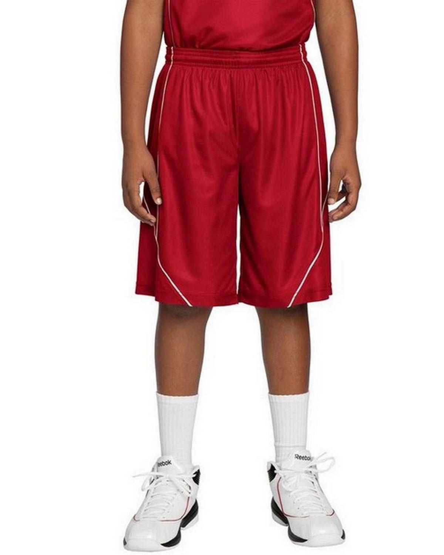 Sport-Tek YT565 Youth PosiCharge Mesh Reversible Spliced Short