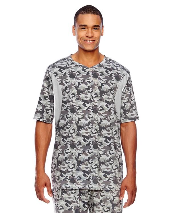 Team 365 TT12 Mens Athletic V-Neck All Sport Sublimated Camo Jersey T-Shirt