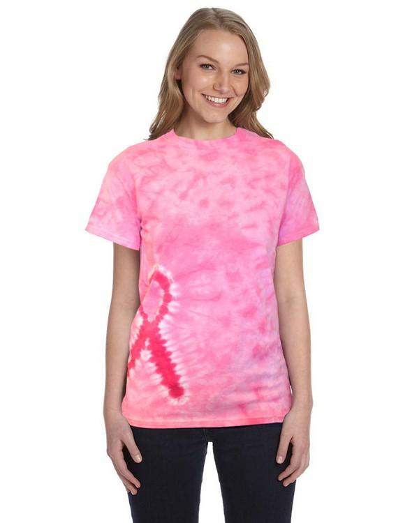 Tie-Dye CD1150 Pink Ribbon T-Shirt