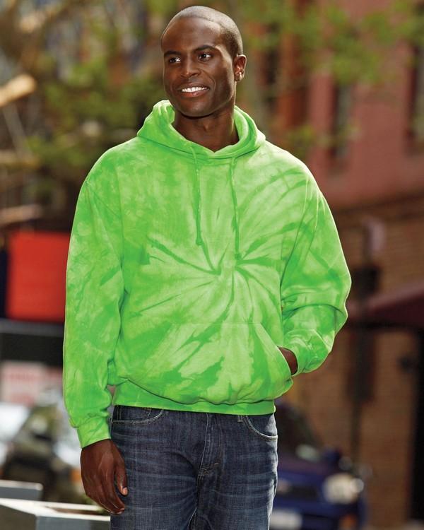 Tie-Dye CD877 Tie-Dyed Pullover Hood