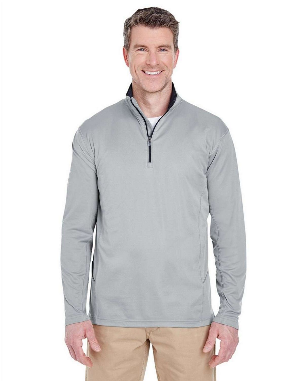 Ultraclub 8230 Adult Cool  Dry Sport 1/4 Zip Pullover