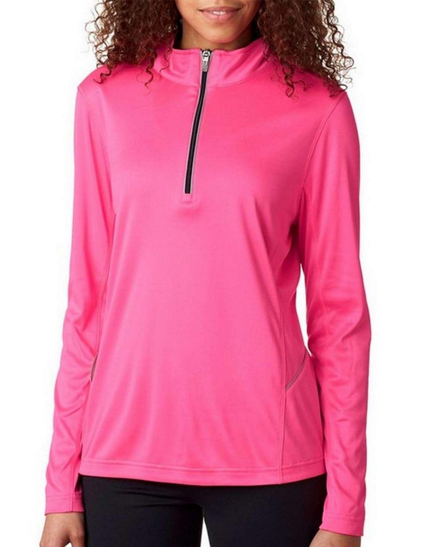 Ultraclub 8230L Ladies Cool  Dry Sport 1/4-Zip Pullover
