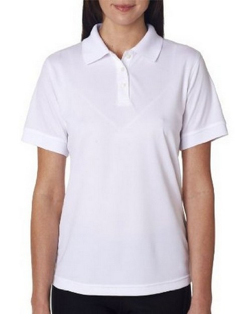 UltraClub 8315L Ladies Platinum Performance Pique Polo with TempControl Technology
