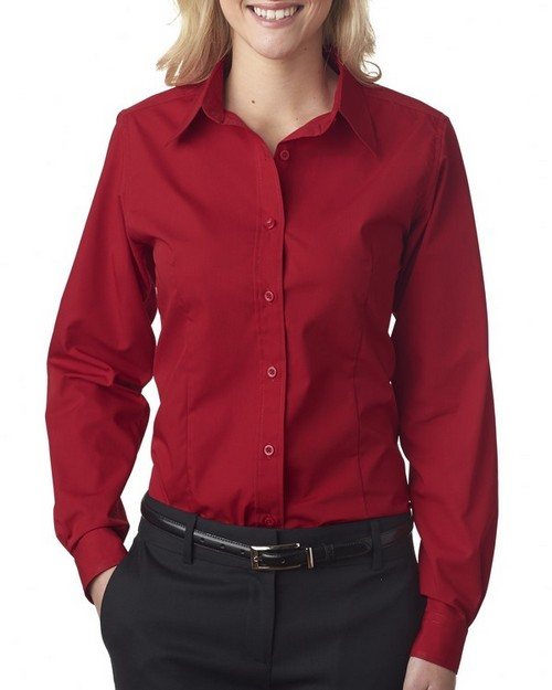 UltraClub 8355L Ladies Easy-Care Broadcloth