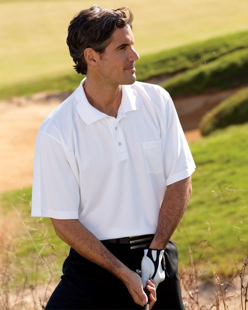 UltraClub 8405P Adult Cool Dry Sport Polo with Pocket
