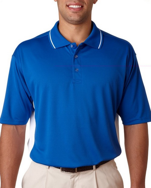 UltraClub 8406 Mens Cool Dry Sport 2-Tone Polo