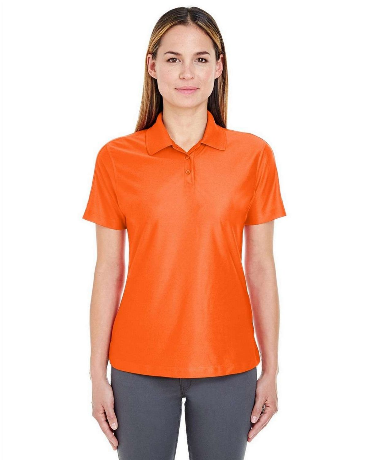 Ultraclub 8414 Ladies Solid Wicking Polo