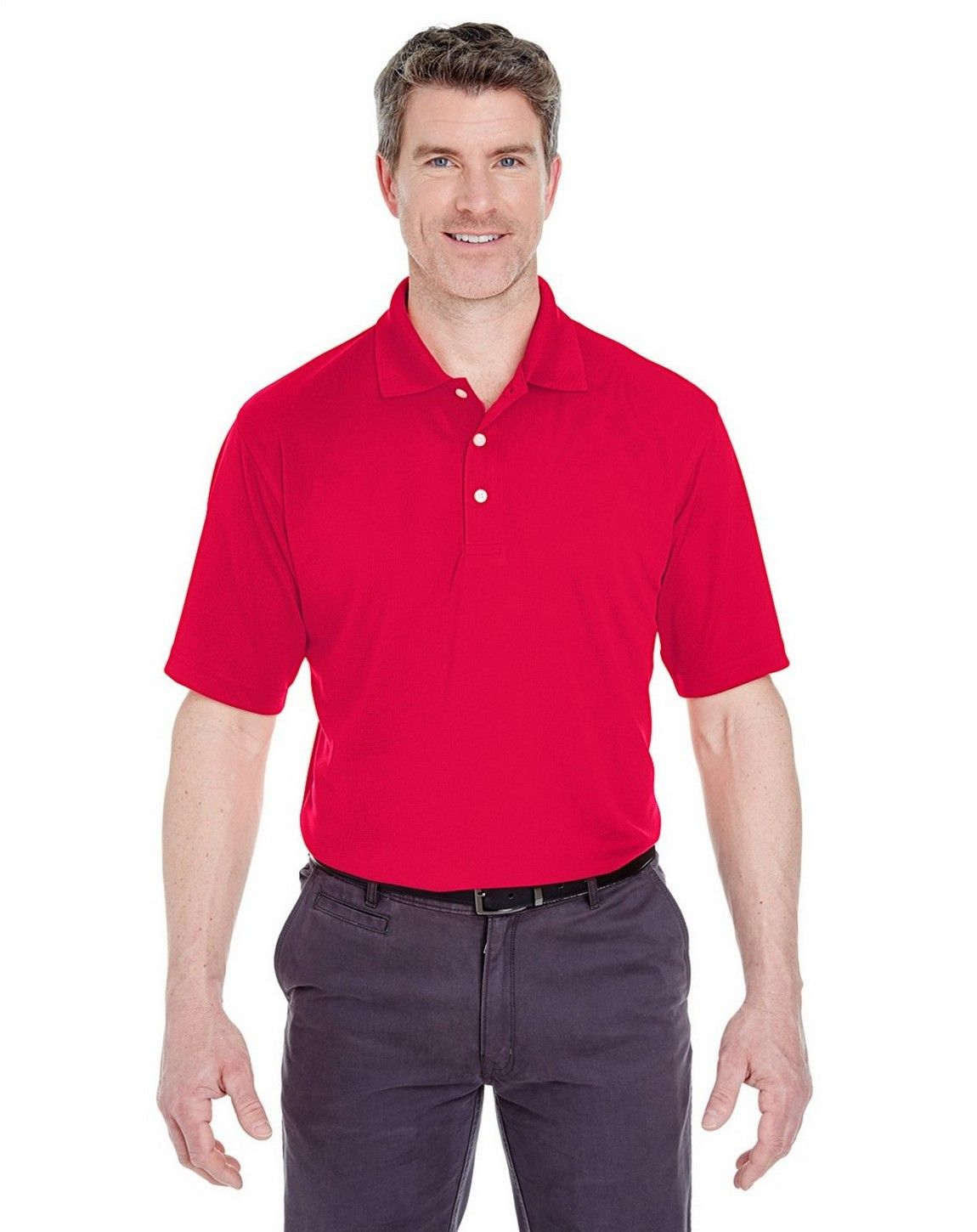 UltraClub 8445 Mens Cool Dry Stain-Release Performance Polo
