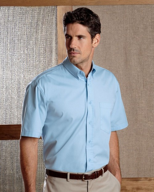 UltraClub 8977 Adult Short-Sleeve Whisper Twill