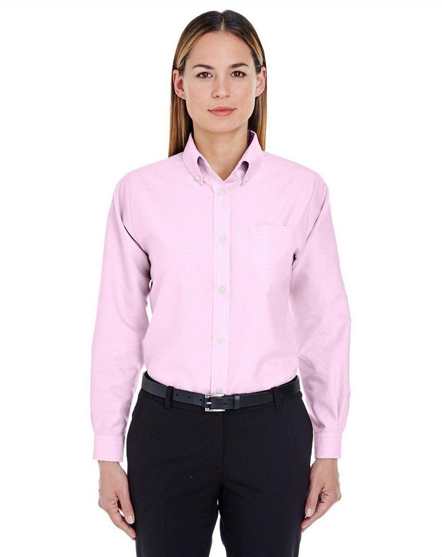 UltraClub 8990 Ladies Classic Wrinkle-Resistant Long-Sleeve Oxford