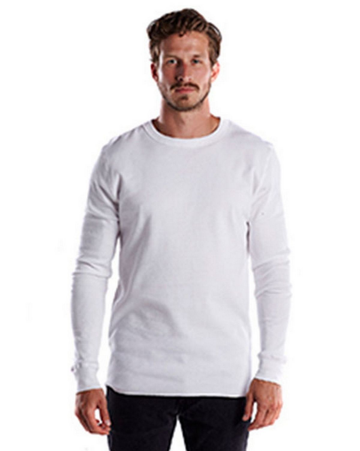 US Blanks US2900 Mens 5.8 oz. Long-Sleeve Thermal Crewneck