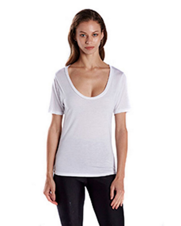 US Blanks US902 Ladies 2.5 oz. Short-Sleeve Deep Scoop Neck Blouse