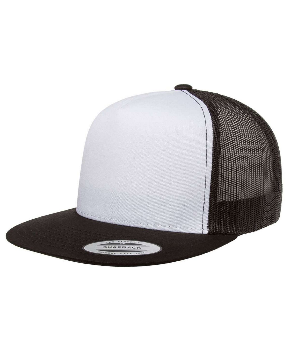 Yupoong 6006W Adult Classic Trucker White Front Panel Cap